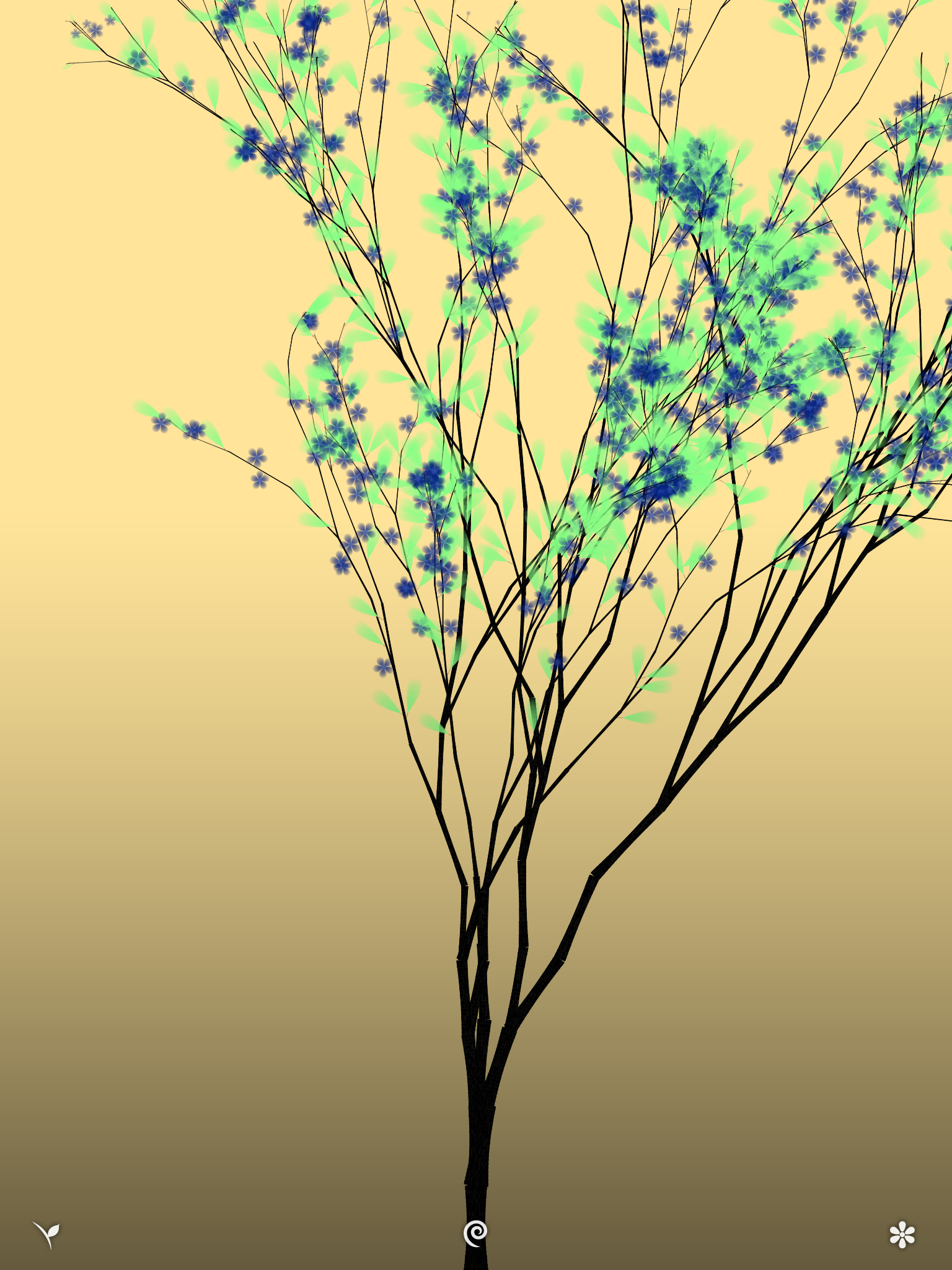 how to draw a tree with flowers